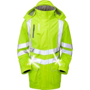 Pulsar Hi Vis Yellow Active Storm Coat With Led Lights