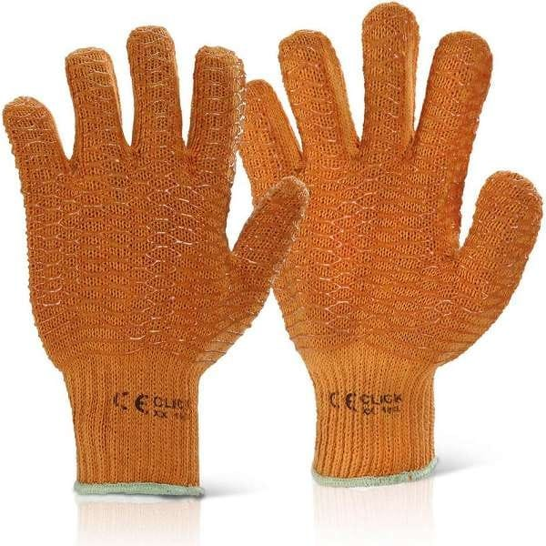 Criss Cross Gloves Orange