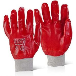 Fully Coated Knit Wrist PVC Gloves