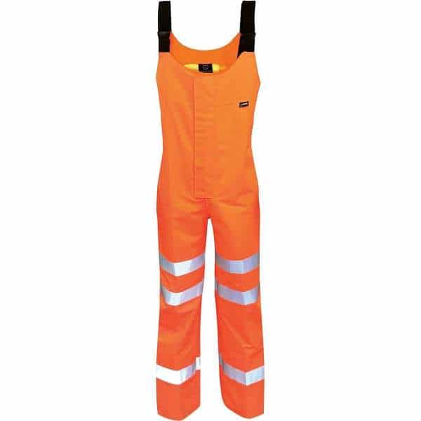 Hi Vis Danube Gore-Tex 3 Layer EN471 Rail Spec Salopette - M, Orange
