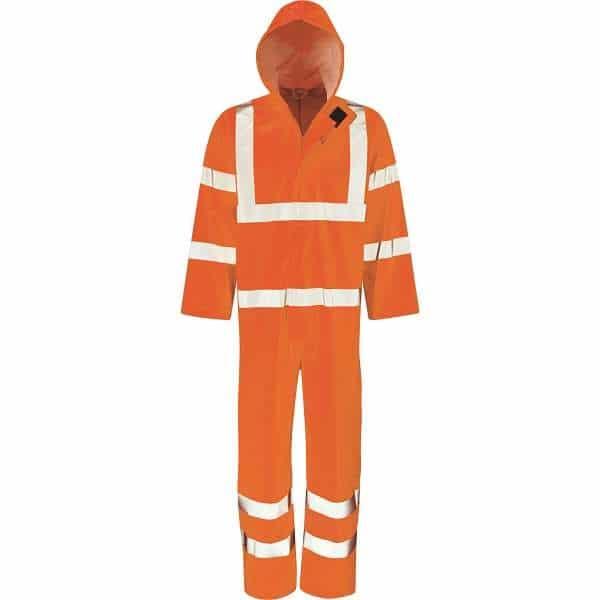 Hi Vis Hydra-Flex Elm Rail Spec Coverall - 2XL, Orange