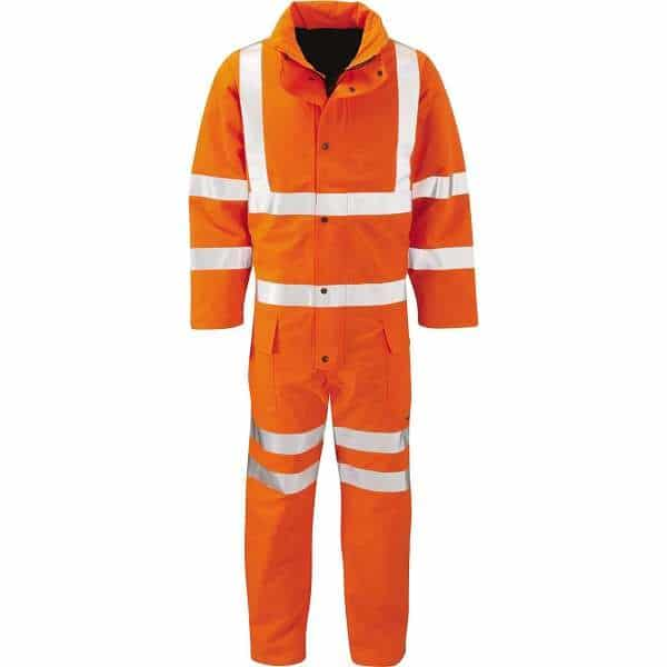 Hi Vis Yukon Gore-Tex Rail Spec Coverall - 2XL, Orange