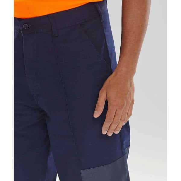 Navy Blue Poly Cotton Nylon Patch Trouser