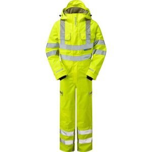 Pulsar Hi Vis Yellow Foul Weather Coverall (P522)