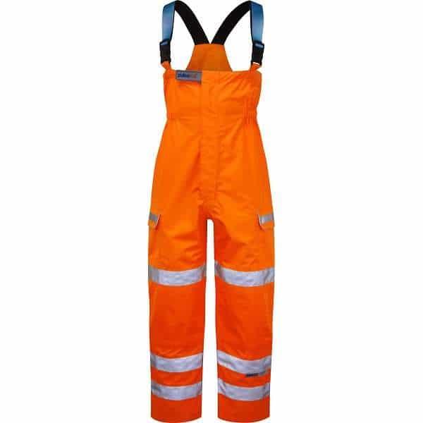 Pulsar Rail Spec Foul Weather Salopette (PR504) - 4XL, Orange