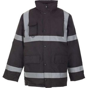 Security Parka w Reflective Tape - 2XL