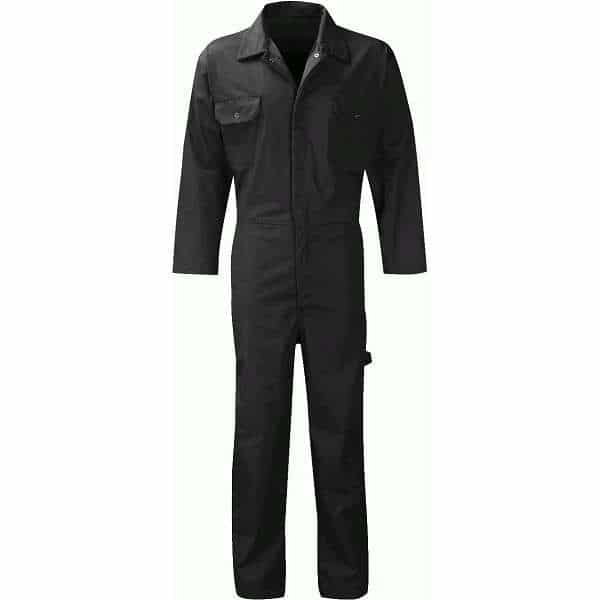 Stud Front Coverall - 54, black