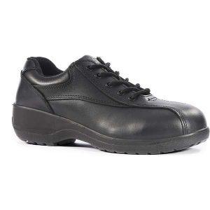 Vixen Amber Ladies Black Safety Shoes - 6, black
