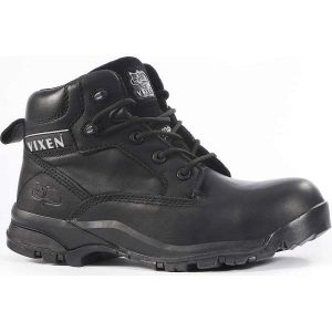 Vixen Onyx Waterproof S3 Ladies Safety Boots - 8, black