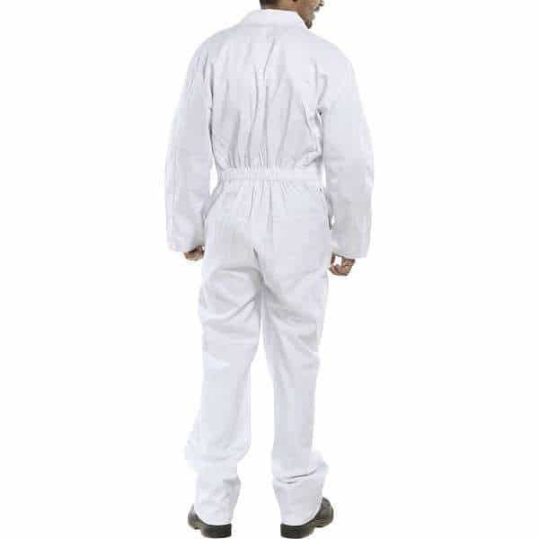 White Cotton Drill Coverall