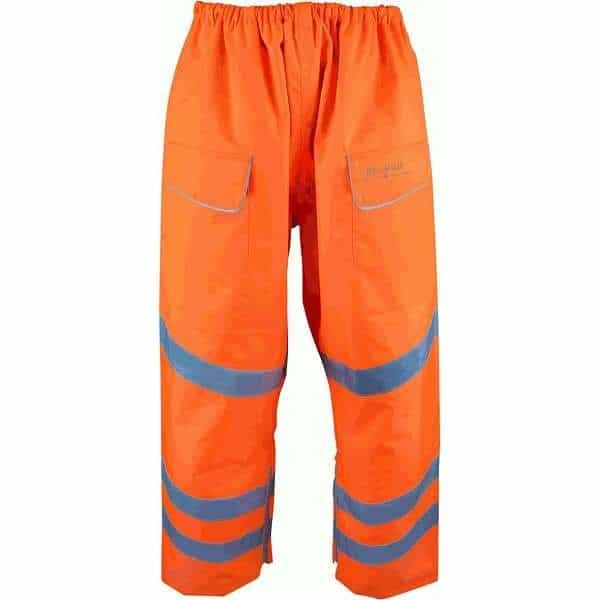 Hi Vis Bolster Orange Rail Spec Waterproof Combat Style Over Trouser (Pro Rail)
