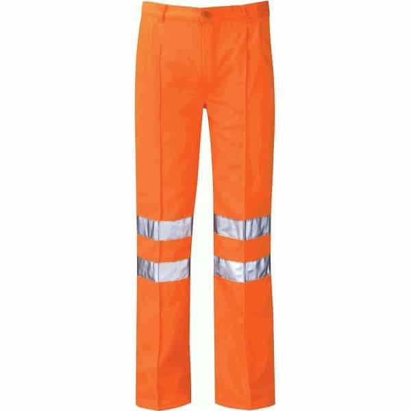 Hi Vis Rail Spec Classic Work Trouser (Delta) - 32 Short