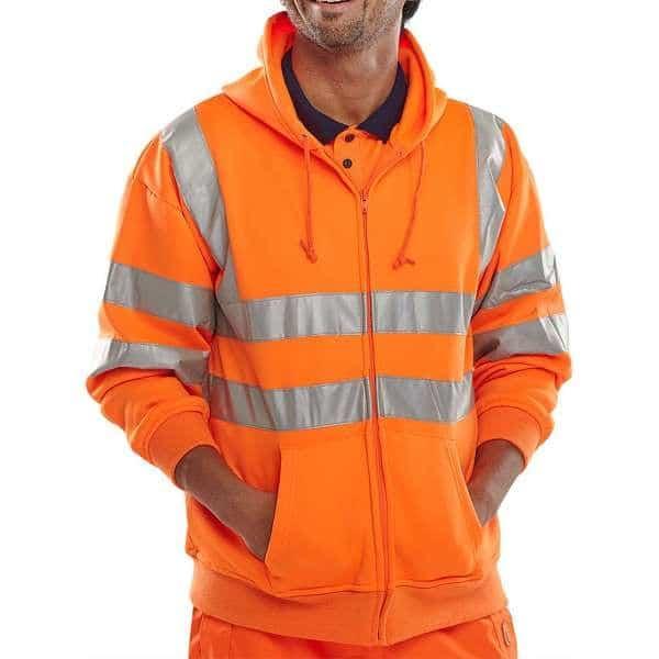 Hi Vis Rail Spec Hooded Sweatshirt
