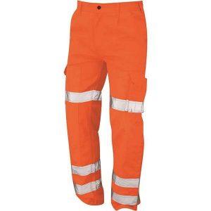 Hi Vis Vulture Orange Rail Spec Ballistic Trousers