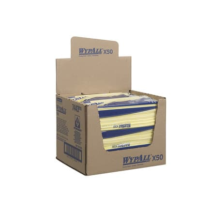7443 Wypall X50 Cleaning Cloths - Interfold Case 6(Yellow)