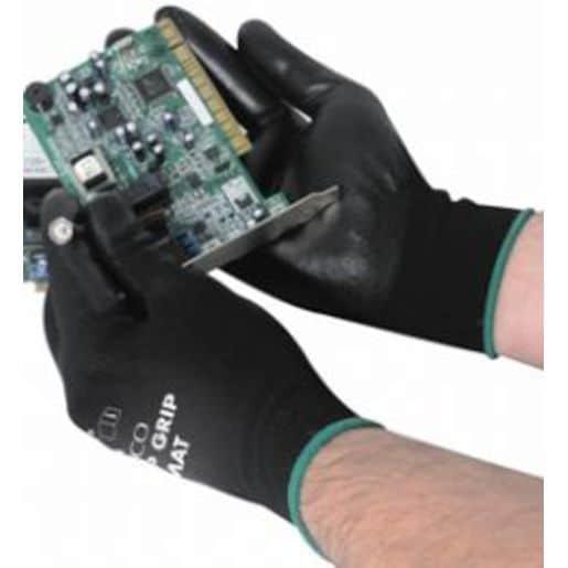 Matrix P Grip Black PU Coated Nylon Glove