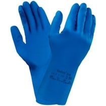 Ansell AlphaTec® 87-195 Natural Rubber Latex Blue Glove 1.0.1.0.X