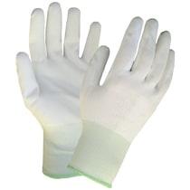 KeepSAFE White PU Coated Nylon Glove