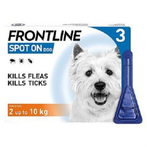 Frontline Spot On Dogs 2-10 kg - 3 x 0.67ml pipettes