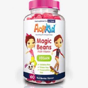 ActiKid® Magic Beans Multi-Vitamin Vegan Red Berries 60