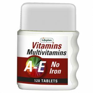 Multivitamins (No Iron) X 120 Tablets