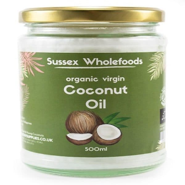 Organic Virgin Coconut Oil 500ml (Sussex Wholefoods)