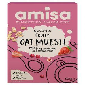Fruity Oat Muesli, Gluten Free, Organic 325g (Amisa)