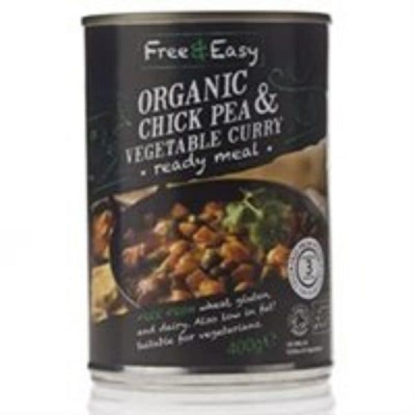 Free & Easy Organic Chickpea and Vegetable Curry