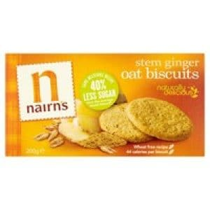 Nairns Stem Ginger Wheat Free Biscuits