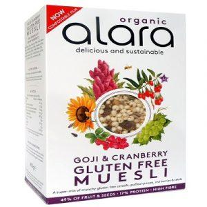 Alara Goji and Cranberry Gluten Free Muesli 450g