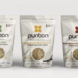 Purition Raw Vegan Hemp Protein Shake 500g Bag